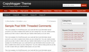 Copyblogger Genesis Child Theme Screenshot